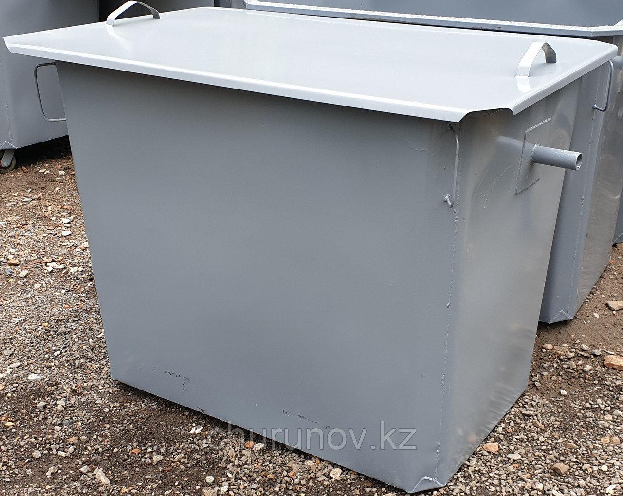 Контейнеры под мусор, баки 1,1 м3 с крышкой, без колес (НДС 12% в т.ч.)