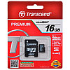 Memory Card micro SD_16Gb + adapter Class10 Transend
