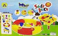 Песочница складная круглая с аксессуарами + стол Sandy Beach, фото 1