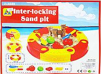 Песочница складная круглая с аксессуарами Inter - Locking Sand Pit, фото 1