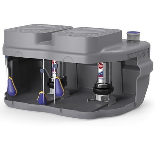 Установка канализационная Pedrollo SAR 550-Dm 20-N - 0,75 кВт (Qmax 250л/мин, Hmax 19м,кабель 10м)
