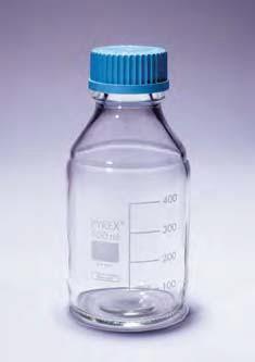 Бутыль для химреактивов с пластмассовой завинчивающейся крышкой d-45 мм, со шкалой (250 мл) (Pyrex)