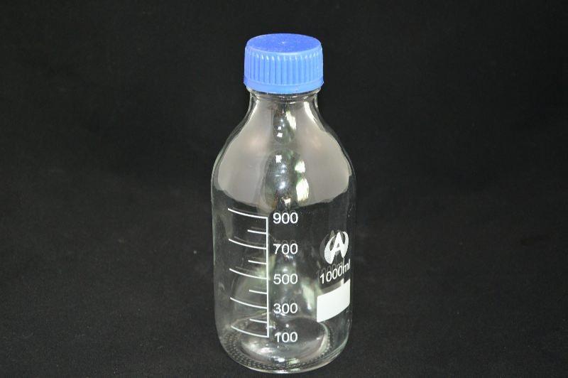 Бутыль для химреактивов с пластмассовой завинчивающейся крышкой (1л)