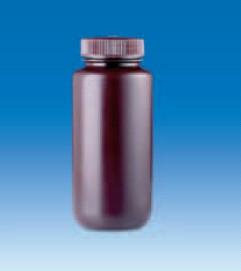 Бутыль широкогорлая полиэтиленовая, темная, V-125 мл, для хранения светочувствительных в-в, винт.крышка (PE-HD) (VITLAB)