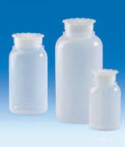 Бутыль широкогорлая полиэтиленовая, V-500 мл, с винт.герметично закрывающейся крышкой и уплотнением (PE-LD) (VITLAB)
