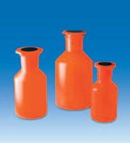 Бутыль широкогорлая V-500 мл, светонепроницаемая для хранения светочувствительных в-в с пробкой NS45/40 (PP) (VITLAB)