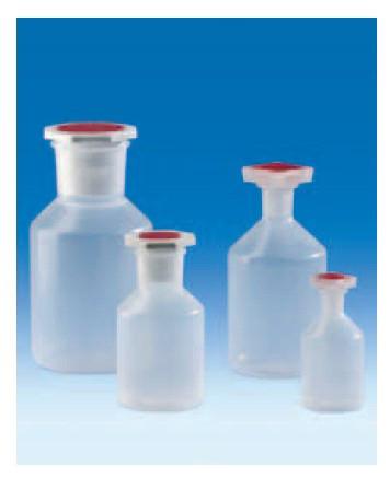 Бутыль с конической горловиной на 250 мл РР, с пробкой NS из PP (VITLAB)