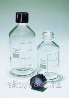 Бутыль для химреактивов с пластмассовой завинчивающейся крышкой d-20 мм, со шкалой (25 мл) (Pyrex)