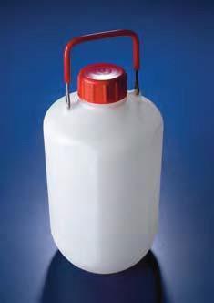 Бутыль узкогорлая полиэтиленовая, V-5 л, с ручкой для переноса, винтовой крышкой (PE-HD) (Azlon)