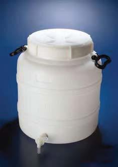 Бутыль широкогорлая полиэтиленовая, V-50 л, с ручками для переноса, винтовой крышкой и вентилем (PE-HD) (Azlon)