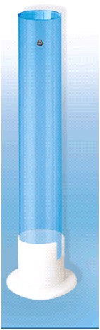 Цилиндр для ареометра на пластмассовом основании со шкалой   (Н-500 мл)
