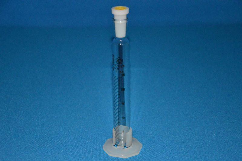 Цилиндр 4а мерный с пластмассовой пробкой и основанием 4а-25-2, до 28.04.17