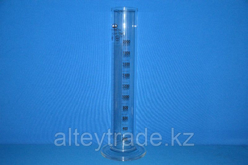 Цилиндр 1 мерный с носиком и стекл.осн.1-2000-2