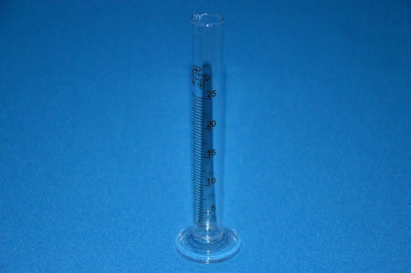 Цилиндр 1 мерный с носиком и стекл. осн.1-25-2