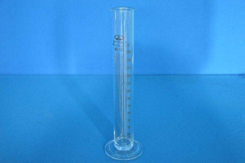 Цилиндр 1 мерный с носиком и стекл.осн.1-250-2