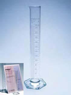 Цилиндр 1 мерный с носиком и стекл. осн.100 мл, класс А (Pyrex)