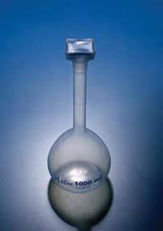 Колба мерная с полипропиленовой пробкой NS10/19, 50 мл, класс В, материал-полипропилен (РР) (Azlon)