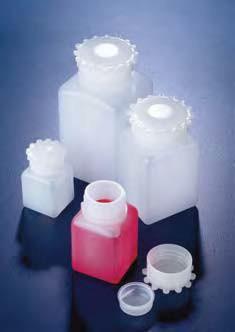 Бутыль широкогорлая полиэтиленовая, квадратная, V-250 мл, с винт.герметичной крышкой и уплотнением (PE-HD) (Azlon)