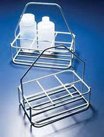 Корзина для переноски 6 бутылей, d бутыли-74 мм, из стали покрытой полиамидом (Azlon)