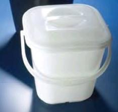 Крышка полиэтиленовая белая для ведра квадратного (код BWX116) (Azlon)