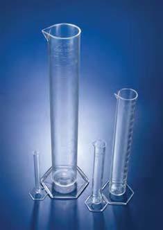 Цилиндр мерный с носиком высокий, 500 мл, ц.д.5 мл, класс В, 6-гранное основание, рельефная шкала, РМР (Azlon)