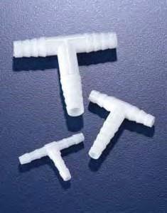 Переходник Т-образный полипропиленовый для шлангов с внутр.d-6-7 мм (PP) (Azlon)
