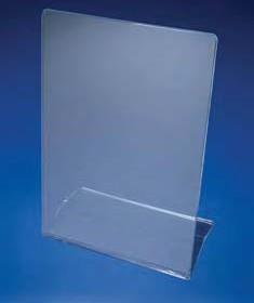 Экран защитный от бета-излучения  акриловый, 445х150 мм, угловая двойная подставка (Azlon)