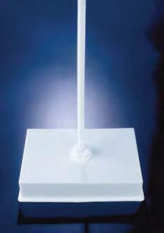 Штатив с квадратной плитой, штанга посередине, m=2,5 кг, 248х171х52 мм, белый, полиэтиленовый (Azlon)