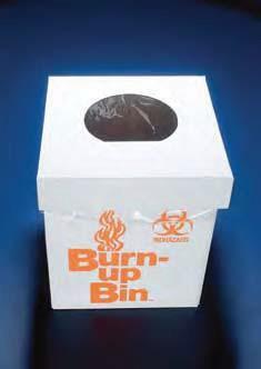 Коробка для сбора и сжигания биологически опасных отходов, настольная, картонная, 20х20х25 мм (Azlon)