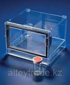 Эксикатор прямоугольный из полистирена, внутренние размеры 210х180х130 мм (Azlon)