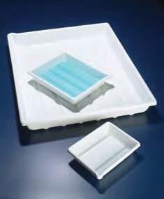 Лоток пластиковый, глубокий, белый, 420х320х75 мм (PVC) (Azlon)