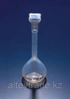 Колба мерная с полипропиленовой пробкой NS14/23, 100 мл, класс B, материал-полиметилпентен (РМР) (Azlon)