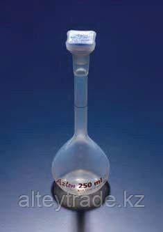Колба мерная с полипропиленовой пробкой NS19/26, 250 мл, класс А, материал-полиметилпентен (РМР) (Azlon)