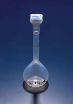 Колба мерная с полипропиленовой пробкой NS19/26, 250 мл, класс B, материал-полиметилпентен (РМР) (Azlon)