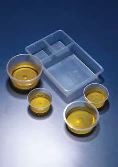 Лоток пластиковый 3-секционный, 2 секции в форме встроенных стаканчиков, 196х130х28 мм (уп.200 шт) (PP) (Azlon)
