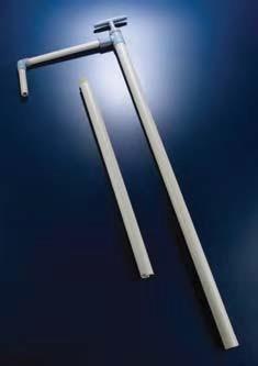 Насос для кислот и щелочей с длинной сливной трубкой полипропиленовый, L-1590 мм (PP) (Azlon)