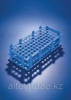 Штатив для пробирок, пластиковый, корзиночного типа, квадратные гнезда (84 гнезда, d пробир-13мм), белый (PP) (Azlon)