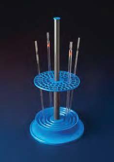 Штатив для пипеток, пластиковый круглый на 94 пипетки, d-230 мм, H-470 мм (PP) (Azlon)