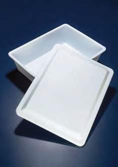 Лоток пластиковый, белый, V-10 л, 390х290х110 мм без крышки (PP) (Azlon)