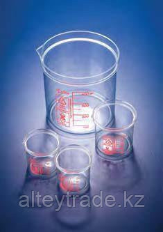 Стакан пластиковый 600 мл, ц.д.50 мл, красная шкала, материал-полиметилпентен (РМР) (Azlon)