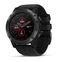 Часы с GPS навигатором Garmin Fenix 5X Plus Sapphire черные с черным ремешком (010-01989-01)