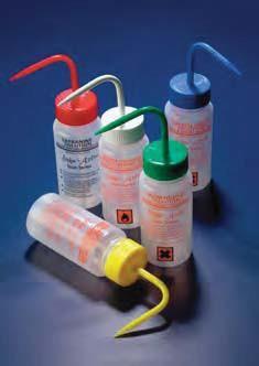 Набор из 5 промывалок широкогорлых 250 мл с надписями растворов для окрашивания по Граму с вентиляцией (PE-LD) (Azlon)