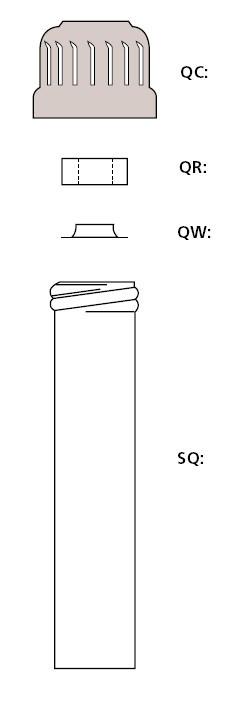 Вставка фторопластовая под завинчивающуюся крышку, резьба 28, с отверствием наверху d-18-19 мм (Quickfit)