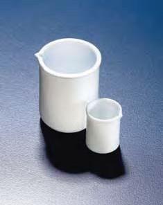Стакан фторопластовый 500 мл, непрозрачный, стойкий к высоким температурам и химическим реагентам, PTFE (Azlon)