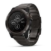 Часы с GPS навигатором Garmin Fenix 5X Plus Sapphire титановые (010-01989-05)