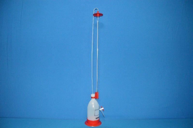 Бюретка Шиллинга автоматическая с полосой Шеллбаха, класс В, V-50мл, погр.- ±0,1 мл, ц.д.-0,1мл, Vбутыля-1л (VITLAB)