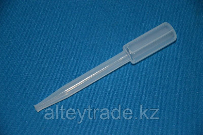 Пипетка с пузырьком градуированная полиэтиленовая, V-1,8 мл, длина-98 мм (уп.100 шт) (VITLAB)