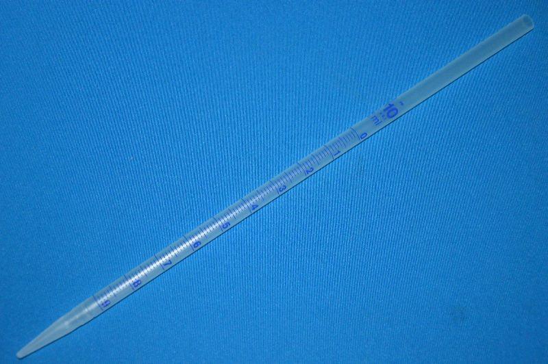 Пипетка градуированная на полный слив 10 мл, ц.д.0,1, d отверстия всас.макс.-10 мм, полипропилен (РР) (VITLAB)