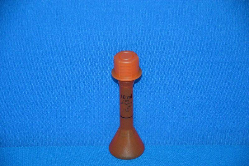 Колба мерная непрозрачная с винтовой пробкой, 10 мл, класс А, материал-полиметилпентен (РМР) (VITLAB)