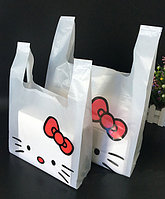 "Пакет-майка ""Hello Kitty"" 10 шт., 25 х 40 х 6 см"